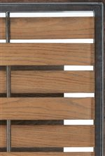 Table Tops Come with Wood Planks Woven Through Metal Bars