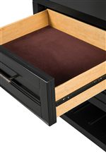 Felt Lined Top Drawer on Nightstand