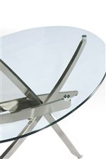Metal Bases with Aluminum Pucks and Tempered Glass Tops