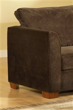 March Upholstery Alexandria Upholstered Chair and Ottoman