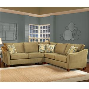 Belfort Essentials Fleetwood Traditional Sectional Sofa