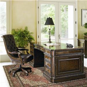 Marge Carson Les Marches Double Pedestal Executive Desk