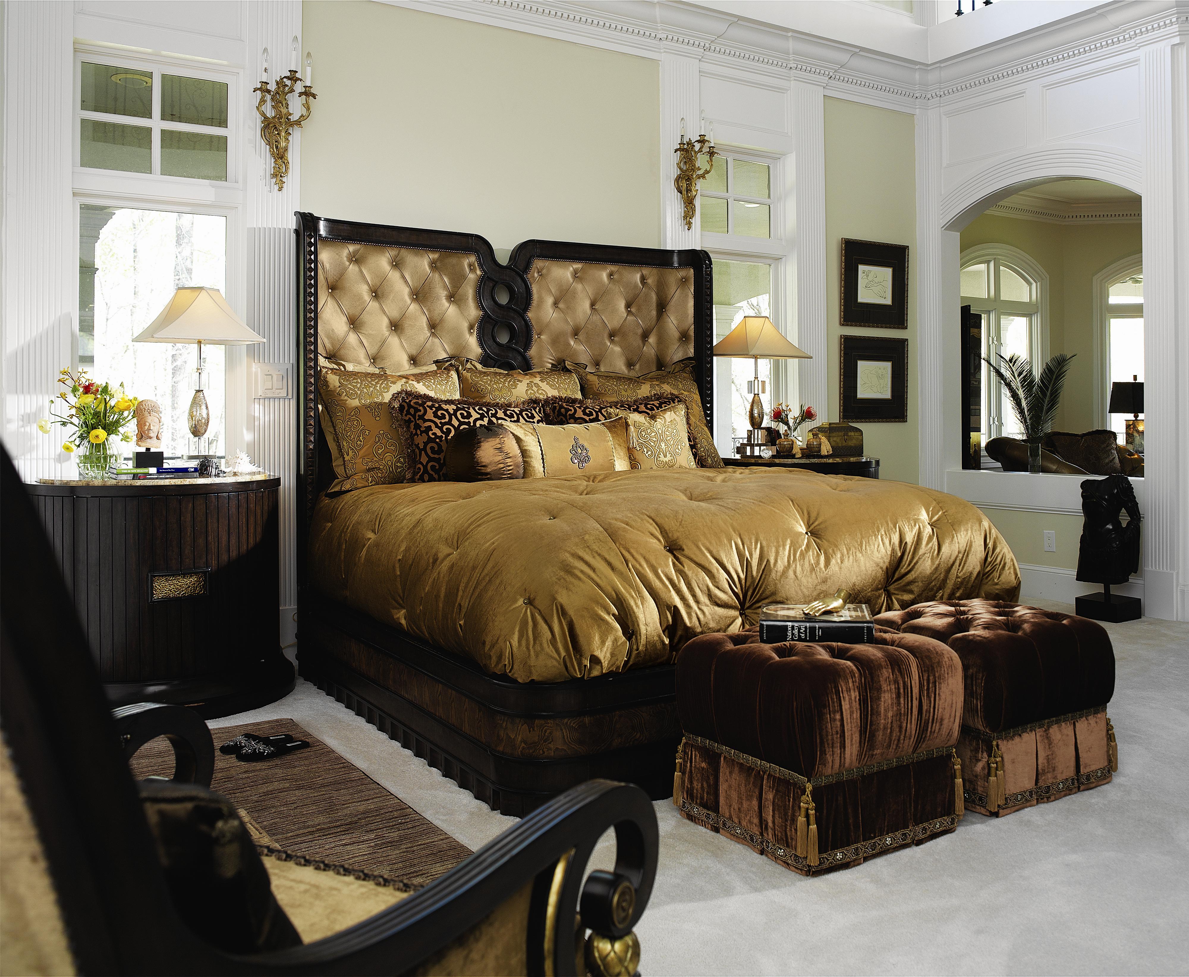 Marge Carson Rue Royale King Upholstered Platform Bed - Carsons bedroom furniture