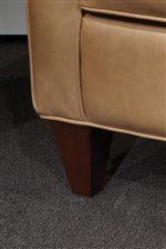 Exposed Wood Tapered Block Leg