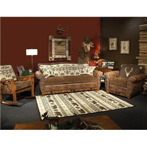 Superbe Marshfield Woodland Stationary Living Room Group