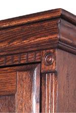 Dentil Molding & Ringed Pilasters