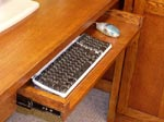 Pull-out Keyboard Drawer.
