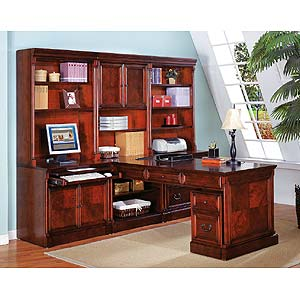 kathy ireland Home by Martin Mount View Efficiency Credenza w/ Printer Shelf