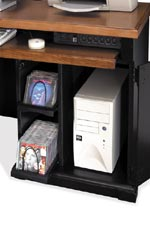 Most desks have keyboard pullout drawers, built-in power centers, CPU storage, and additional storage features