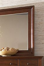 Beveled Wood Mirror Frame