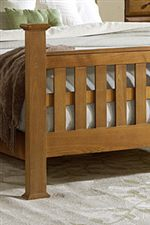 Lattice Footboard with Tapered Post