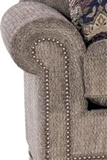 Pleated Rolled Arms with Nailhead Trim