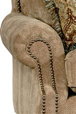 Padded Rolled Arms with Nailhead Trim