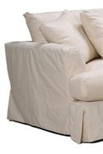 Smooth, Slip-Covered Angles Create a Gentle Upholstered Look