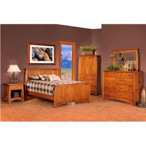 Rotmans Amish Davidson Meadow King Panel Wood Bed