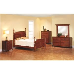 Rotmans Amish Fur Elise Queen Rolling Pin Bed Bedroom Group