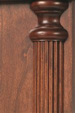 Fluted Pilaster Details Found on Pieces Throughout Collection