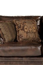 Contrasting Accent Pillows Provide Depth and Comfort