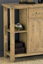 Open Shelves on Sideboard