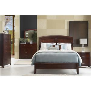 Modus International Brighton Queen Panel Bed w/ Arched Headboard