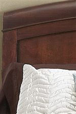 Gently Arched Headboard with Panel Design