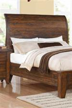 Low Profile Bed Curved Panel Headboard