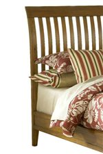 Rake Slat Sleigh Bed Creates a Cottage or Mission Style Look