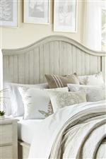 Modus International Ella Rustic Solid Wood Queen Bed in White Wash Finish