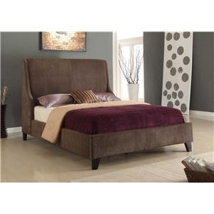 full size upholstered bed. Modus International Upholstered Bedroom Full Size Low Profile Bed With Fabric Upholstery And Nailhead Trim L