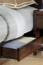 Bed with Storage Footboards