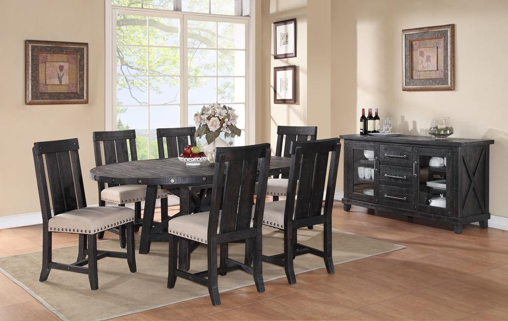 Modus International Yosemite Rustic Solid Wood Rectangle Table With Leaf    Pilgrim Furniture City   Dining Room Table