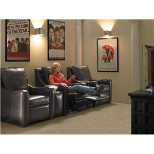 Home Theater Seating Leather By Motioncraft By Sherrill