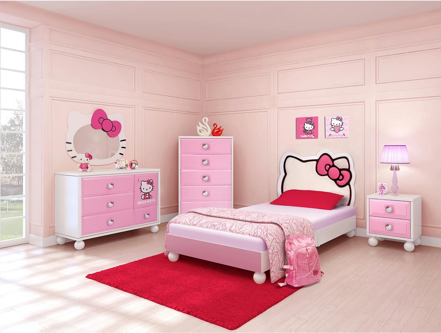 Najarian Bedroom Furniture Najarian Hello Kitty Youth Bedroom Hello Kitty Chest Of Drawers