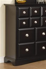 Faux Drawer Look and Arched Bracket Feet