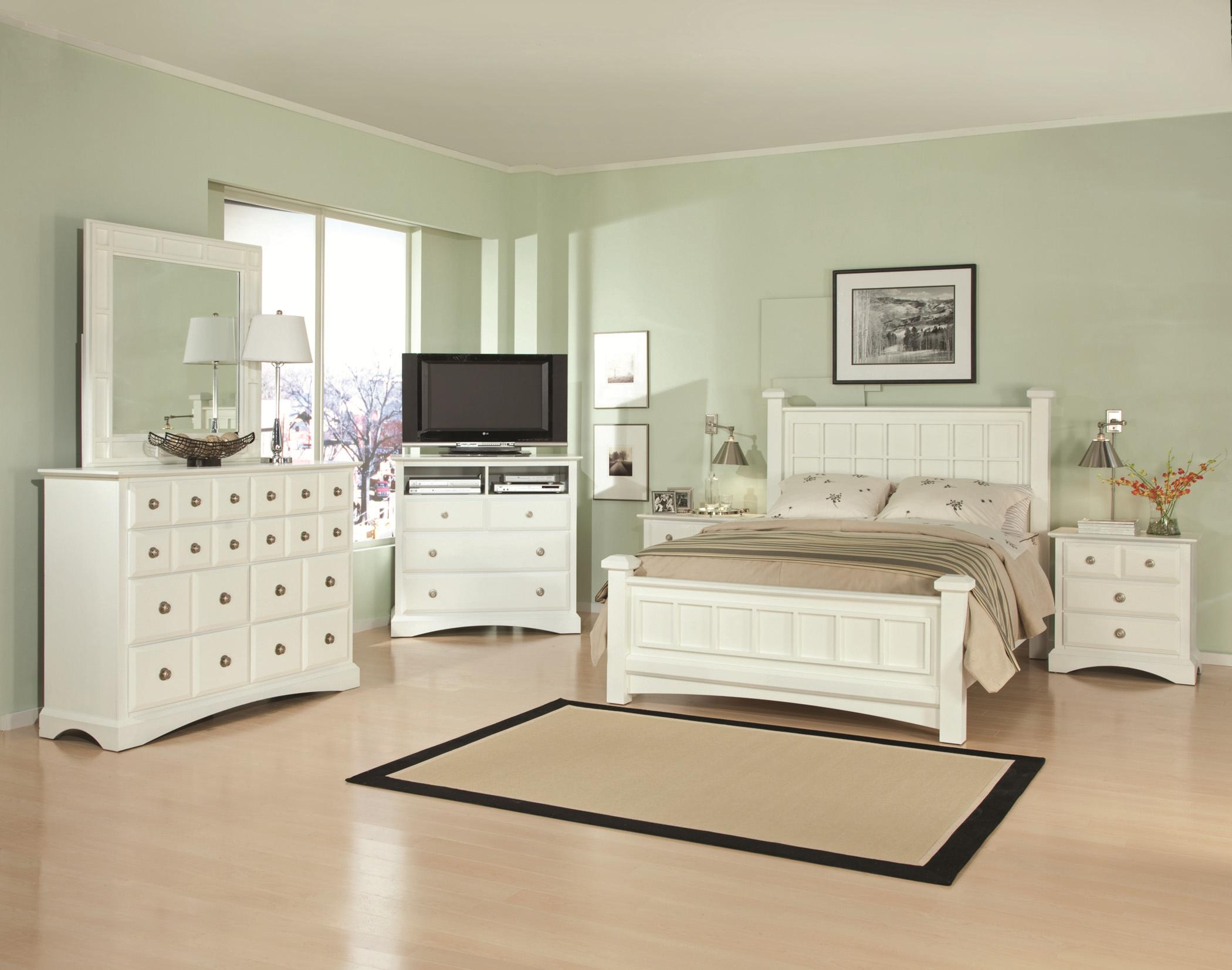 Najarian Palazzo King Bedroom Group - Item Number: WHI K Bedroom Group 1