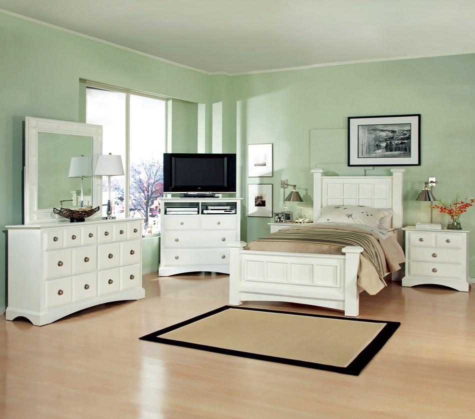 Najarian Palazzo Youth Bedroom Twin Bedroom Group - Item Number: WHITE T Bedroom Group 1