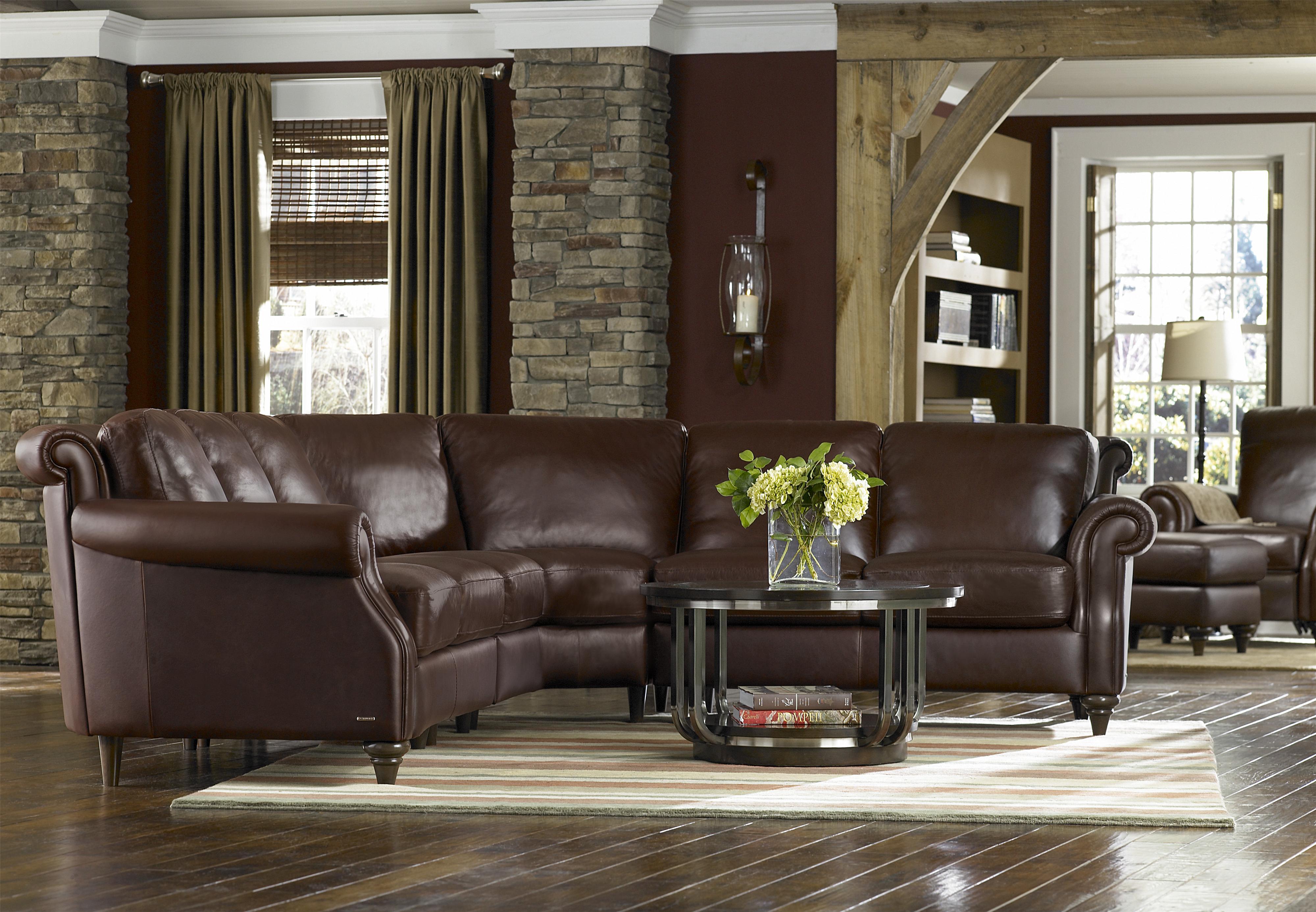 Natuzzi editions a297 rolled arm sofa w exposed wood legs wilsons furniture sofa bellingham ferndale lynden and birch bayblaine washington