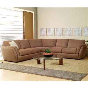 Natuzzi Editions A399 Contemporary 3-Piece Sectional