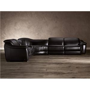 Natuzzi Editions B641 Contemporary Leather Reclining Sectional Sofa
