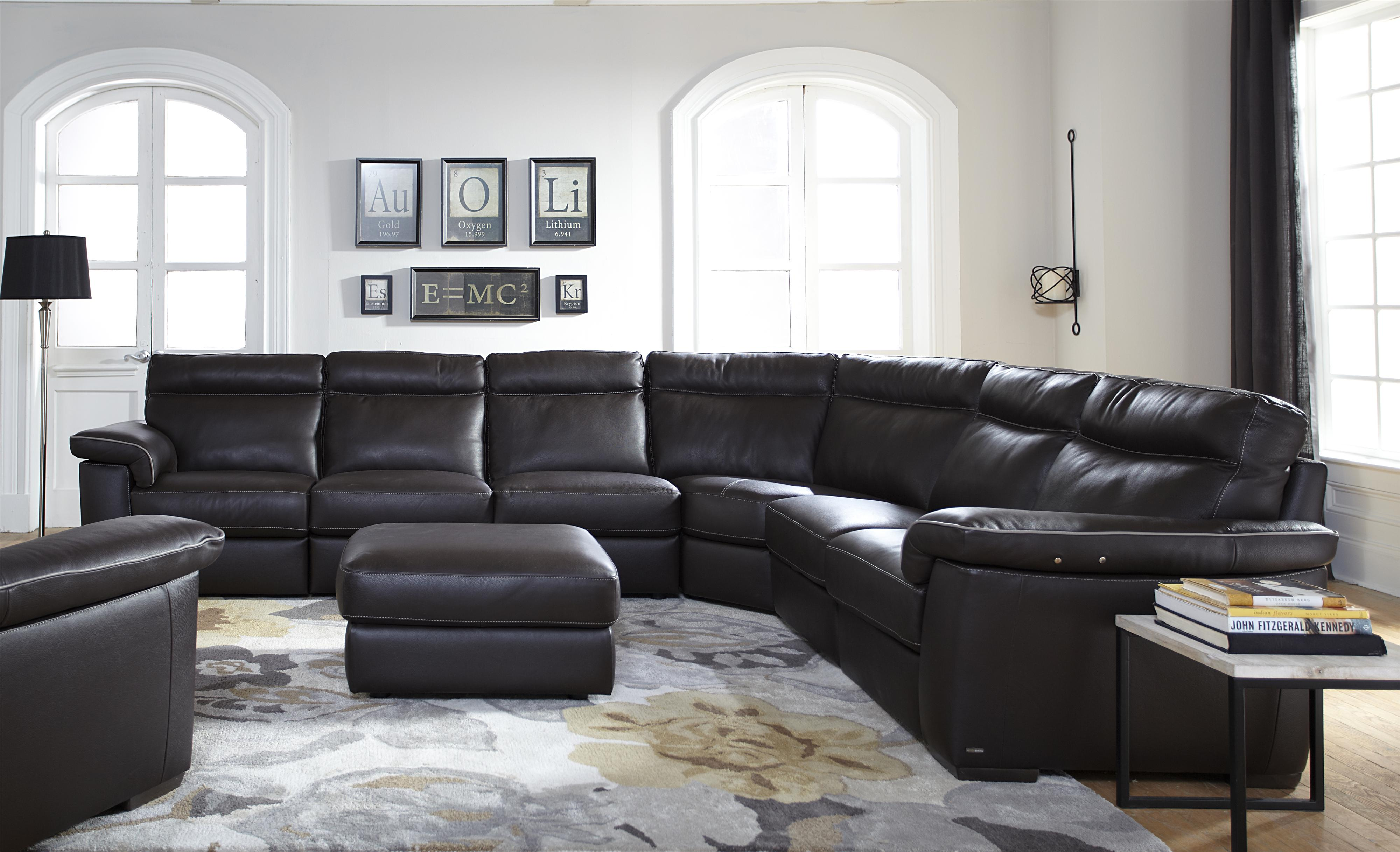 Natuzzi Editions B757 Three Piece Stationary Sectional Sofa With Left Arm  Bumper   Wilsonu0027s Furniture   Sectional Sofas Bellingham, Ferndale, Lynden,  ...