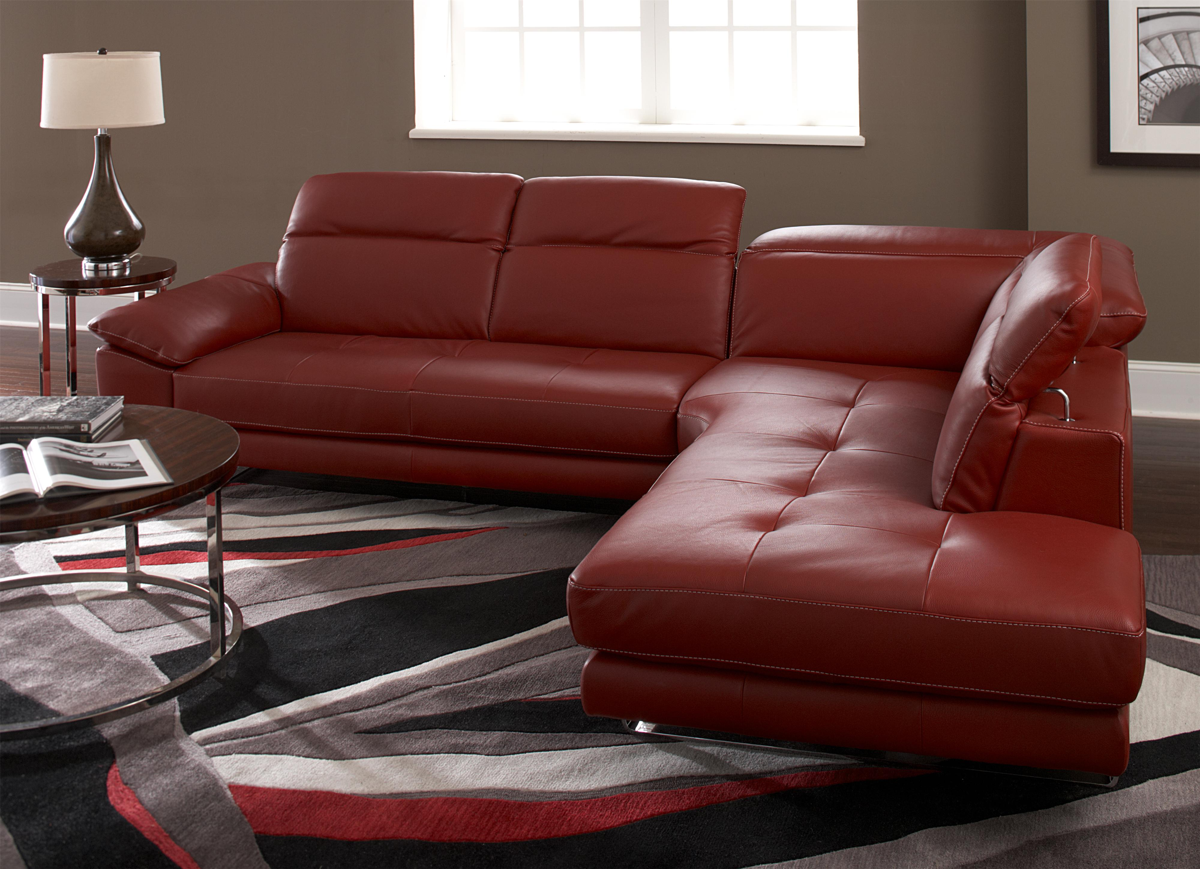 Natuzzi Editions B796 Two Piece Sectional Sofa with LAF Bumper and