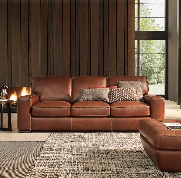 Natuzzi Editions B858 Contemporary Track Arm Sofa | Boulevard Home  Furnishings | Sofas