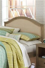 Serpentine Upholstered Headboard