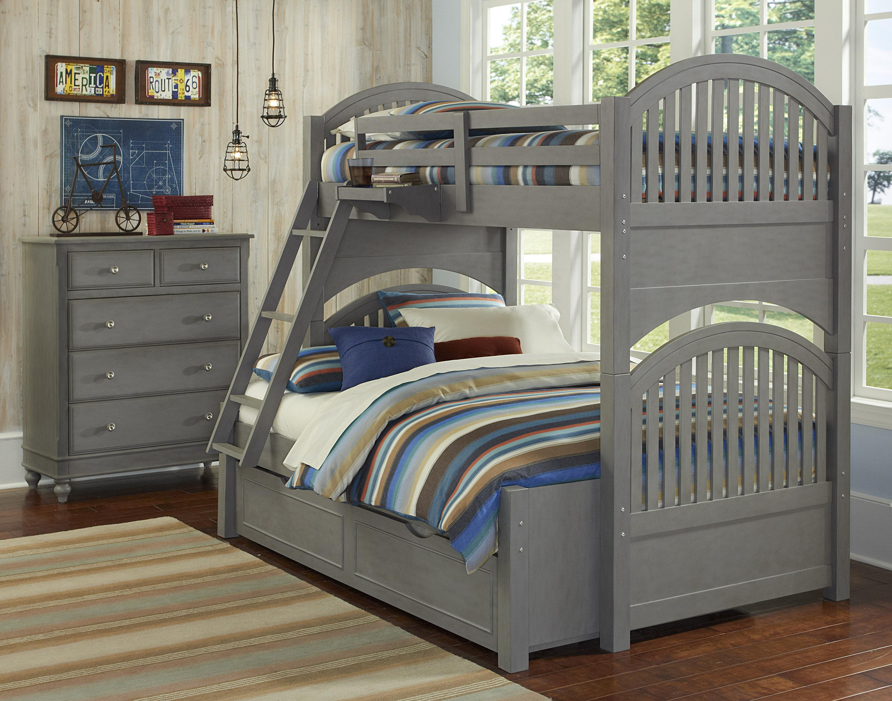 NE Kids Lake House Twin Over Full Trundle Bunk Bed  - Item Number: 200 F Bunk Bed Group 1