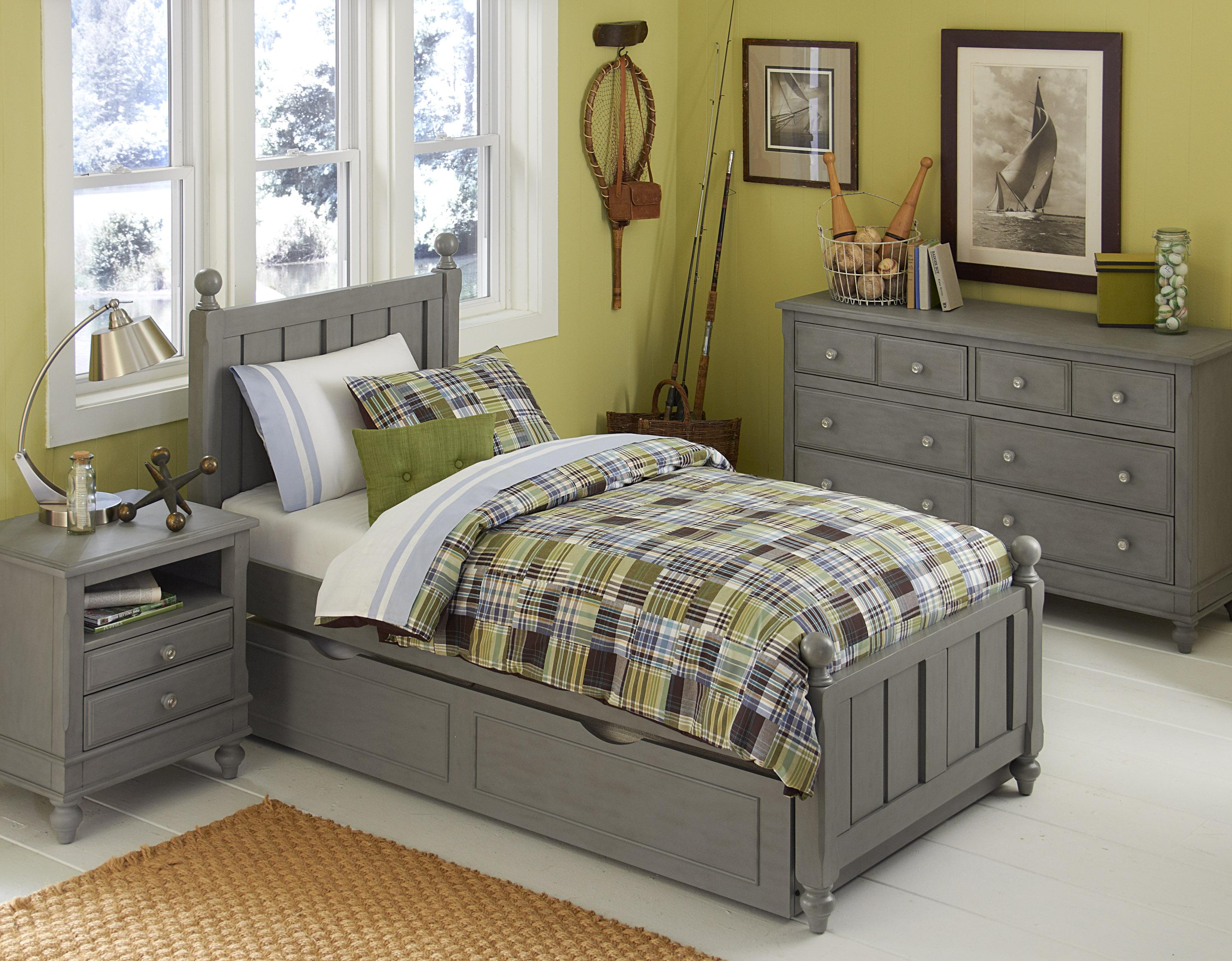 NE Kids Lake House Twin Kennedy Trundle Bed - Item Number:  200 T Bed Group 4