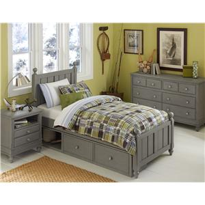 NE Kids Lake House Twin Kennedy Storage Bed