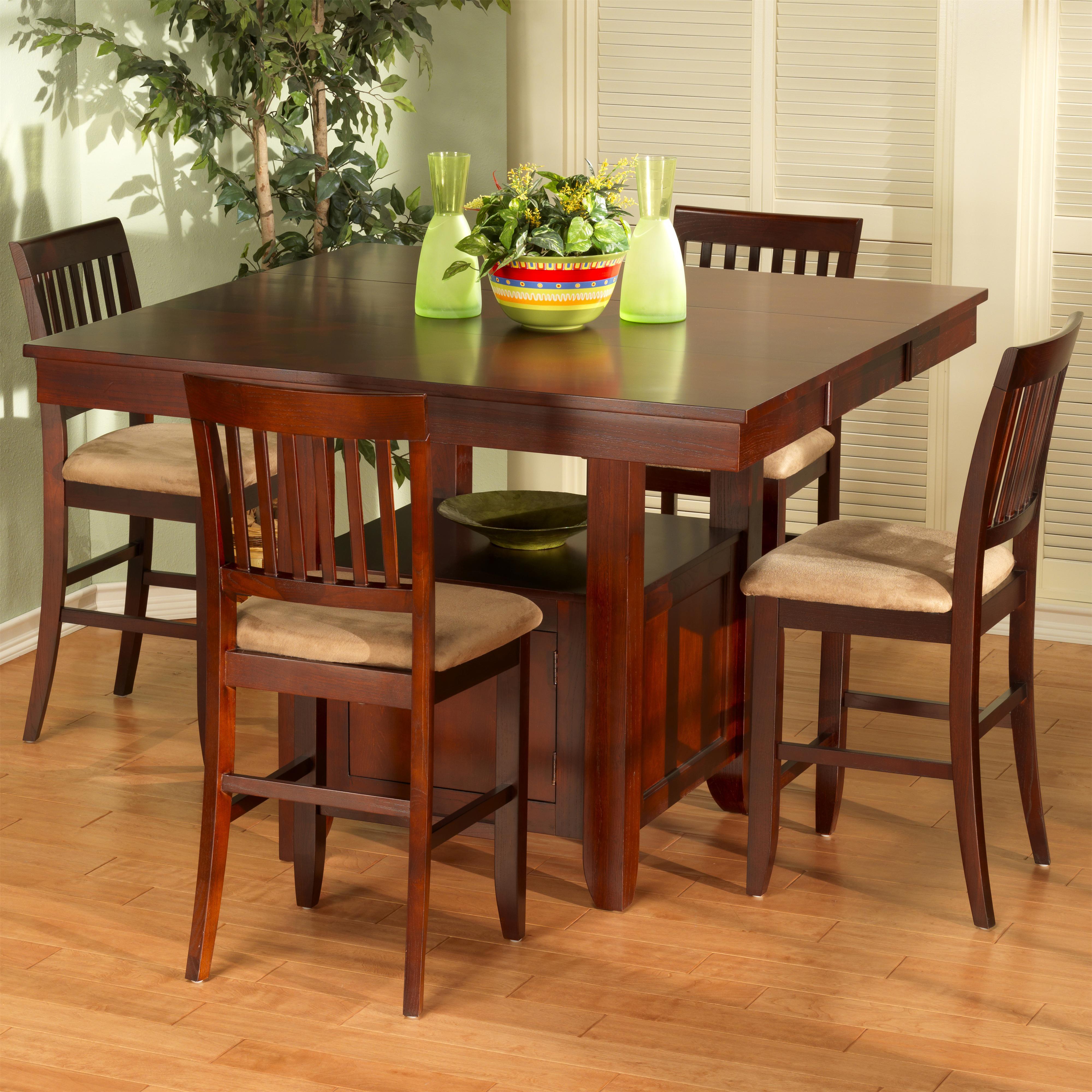 new classic brendan 5 piece storage pub table and counter chair set rh boulevardhomefurnishings com