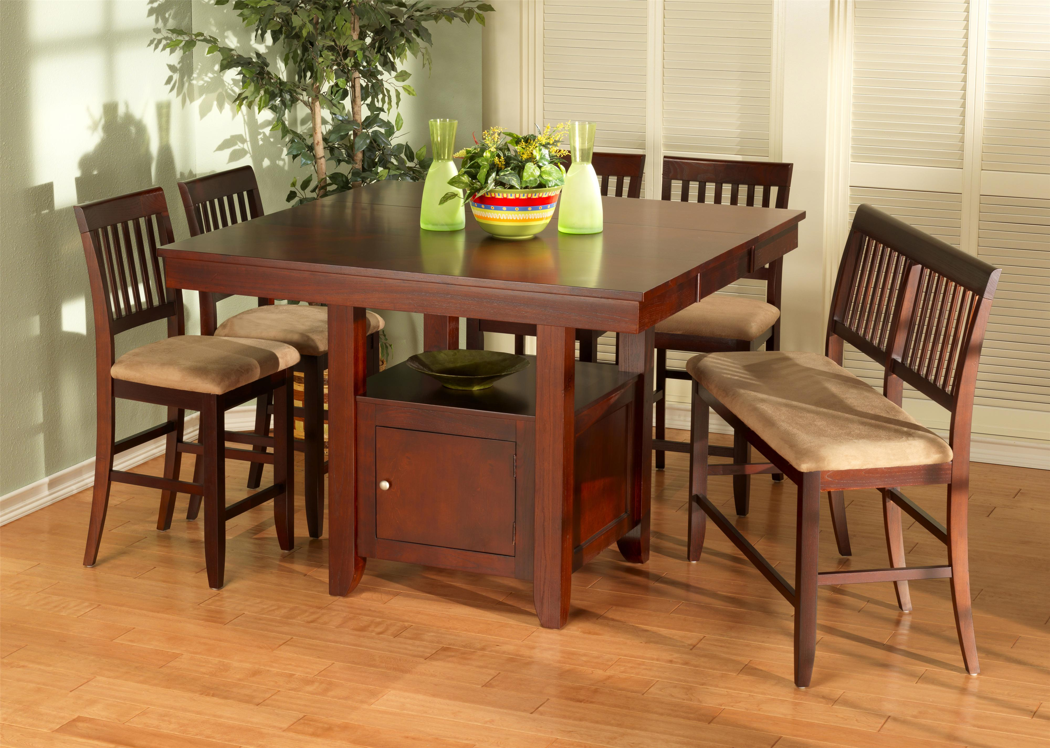Lovely New Classic Brendan 8 Piece Storage Pub Table, Bench, And Counter Chair Set    Wilsonu0027s Furniture   Pub Table And Stool Set Bellingham, Ferndale,  Lynden, ...