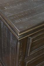 Nightstand top and corner detail