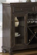 Server shelf and door detail